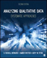 Analyzing qualitative data - systematic approaches
